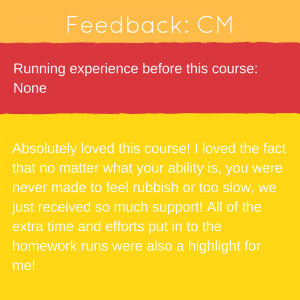 Feedback from Newent Runners 0-5k course